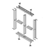 BorrowLight - 2 over 2 wall mounted, double rabbet