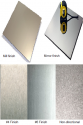 Stainless steel finish collage